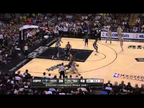 NBA CIRCLE - Memphis Grizzlies Vs San Antonio Spurs Game 1 Highlights - 19 May 2013 Western Final