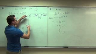 getlinkyoutube.com-Calculus 1 Lecture 2.7:  Implicit Differentiation