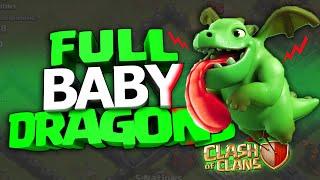 getlinkyoutube.com-FULL 24 BABY DRAGONS SU CLASH OF CLANS! EPICO con SOLO Cuccioli di Drago