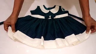 getlinkyoutube.com-Frock With Collar Cutting and Stitching