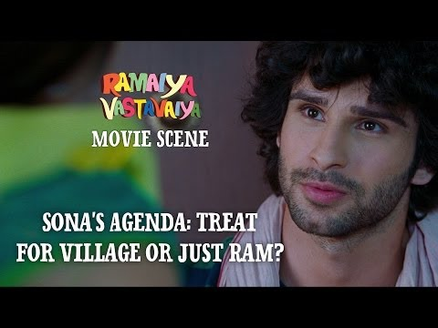 Sona's Agenda: Treat for Village or Just Ram? - Ramaiya Vastavaiya Scene - Girish & Shruti