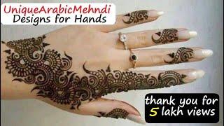 getlinkyoutube.com-Arabic Mehandi Designs for Your Hands - Arabic Mehndi Pictures