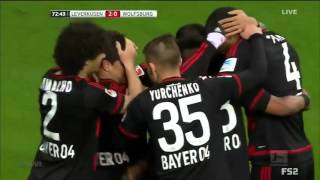 getlinkyoutube.com-Bayer Leverkusen vs Wolfsburg Highlights & Goals