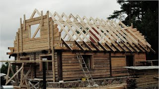 getlinkyoutube.com-The Birth Of A Wooden House. Extended