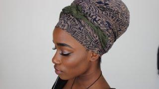 getlinkyoutube.com-Erykah Badu Inspired Headscarf Tutorial