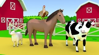 getlinkyoutube.com-Farm animals name and sound - Kids Learning