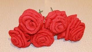 getlinkyoutube.com-Как из салфетки сделать розу