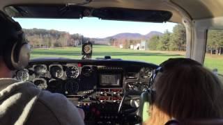 getlinkyoutube.com-Cockpit Twin Comanche takeoff