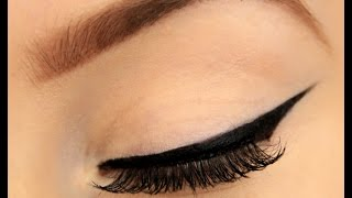 getlinkyoutube.com-How to: Perfect Winged Eyeliner! (New Technique!)