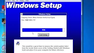 How to Install Windows 3.1 in Virtual PC 2007