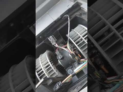 Замена вентилятора печки, как снять вентилятор на Вито 639