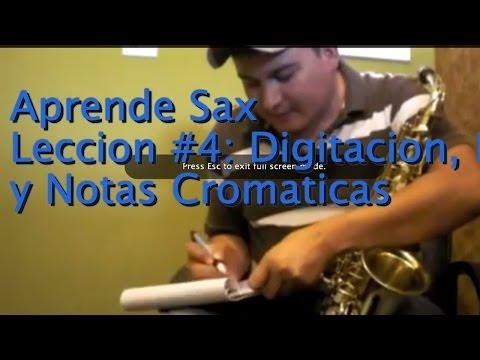 Tutorial de Saxofon Para Principiantes #4 Digitacion Registro y Cromaticos