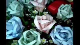 getlinkyoutube.com-ช่อดอกไม้พับด้วยธนบัตร By Chintana Paleewong