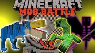 getlinkyoutube.com-VELOCIPREY VS MUTANT CREEPER & ENDER REAPER - Minecraft Mob Battles - Mods