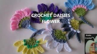 crochet| وردات كروشيه رائعه تنفع حواف للايشاربات - الفوط - الاكمام - العبايات - البلوزات