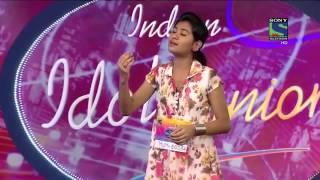 getlinkyoutube.com-Indian Idol Junior 2015   Nithyashree  standing ovation Audition performance