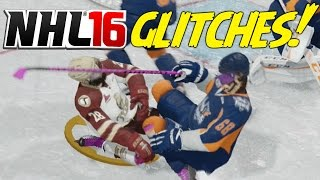 getlinkyoutube.com-NHL 16 Funny Glitches, Hits & Moments! #3 - Flying Player, Mario Jump, Fight Glitch