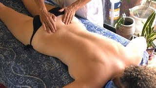 getlinkyoutube.com-Back Massage Therapy How to for Sciatica Pain Relief Treatment, Cranio-Sacral Techniques