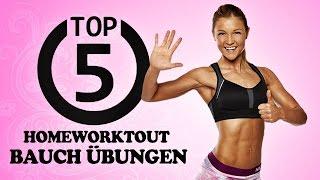 getlinkyoutube.com-Homeworkout! Die 5 besten Übungen für einen flachen Bauch