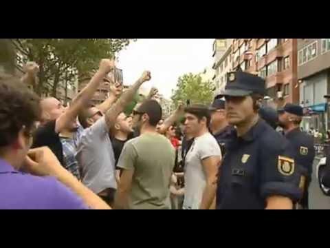 MANIFESTACIÓN ANTIFASCISTA CONTRA EL HOGAR SOCIAL MADRID