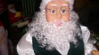 getlinkyoutube.com-Gemmy 1998 - 1999 Hip Swinging Santa (Early Series)
