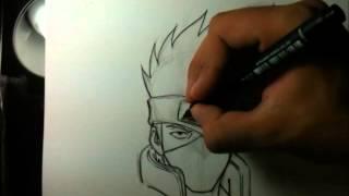 getlinkyoutube.com-Tutorial como desenhar o Kakashi - How to draw Kakashi