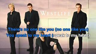 Westlife - If I let you go  karaoke with lyrics