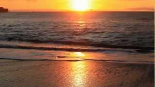 getlinkyoutube.com-(Nature Relaxation w/Music) Soothing Ocean Sunset - San Francisco's Baker Beach 1080p HD