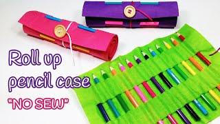 getlinkyoutube.com-DIY crafts: Roll up PENCIL CASE (Back to school) - Innova Crafts