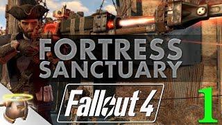 getlinkyoutube.com-FORTRESS SANCTUARY - Huge, realistic Fallout 4 settlement tour & battle!