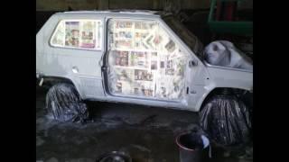 The  restoration of Fiat Panda 4X4 Sisley.