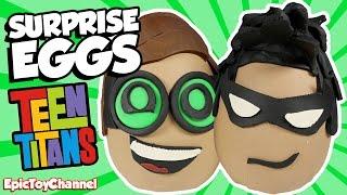 getlinkyoutube.com-LEGO BATMAN MOVIE Robin VS Teen Titans Robin Surprise Egg Battle + Harley Quinn LEGO Mini Figure