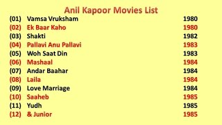 Anil Kapoor Movies List