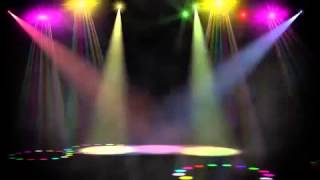 Swirling Colored Stage Spotlights Motion Background