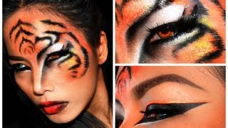 getlinkyoutube.com-''TIGER'' Halloween makeup look
