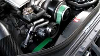 getlinkyoutube.com-Mercedes E55 AMG 83mm Supercharger Pulley - Revving and Whistling