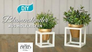 getlinkyoutube.com-DIY: coole Blumenständer aus Holz selber machen [How to] Deko Kitchen