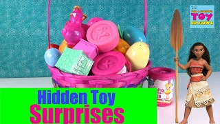 getlinkyoutube.com-Giant Basket Of Surprise Eggs Toys Disney Shopkins Trolls Moana Opening | PSToyReviews