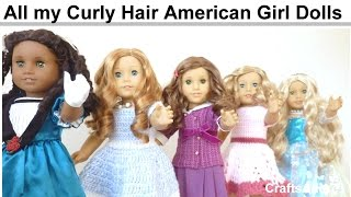 getlinkyoutube.com-All my Curly Hair American Girl Dolls ~ Spring 2015 ~ HD