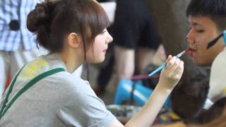 getlinkyoutube.com-Jannina Weigel [Face Painting] @ IF #3 Animal Party , Coffee Model [14.12.14]