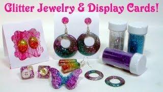 getlinkyoutube.com-glitter resin jewelry