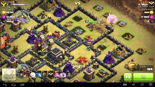 getlinkyoutube.com-COC TH9 Queen Healer Lavallon 3 Star // 퀸힐러 라벌 9홀 후반 완파