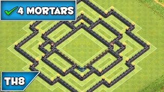 Clash of Clans | BEST TOWNHALL 8 TROPHY/WAR BASE w/ 4th Mortar