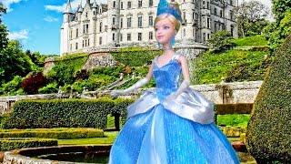 Story for Kids w/ Toys & Dolls CINDERELLA w/ Barbie & Disney Princess - Kid-friendly Family Fun