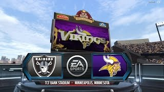 Madden 16 (Online Ranked Match) Raiders at Vikings Very Good Game