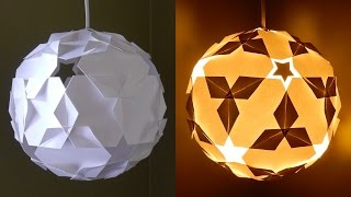 getlinkyoutube.com-DIY paper lantern (star ball) - learn how to make a puzzle IQ light - EzyCraft