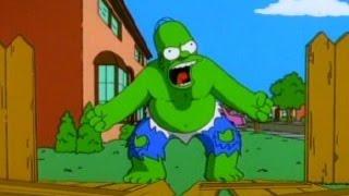 Homero el hombre verde Hulk (completo latino) - Los Simpson