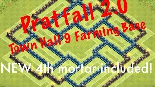 getlinkyoutube.com-Clash of Clans: 4 Mortars - Town Hall 9 Farming Base - Pratfall 2.0 Is Here!