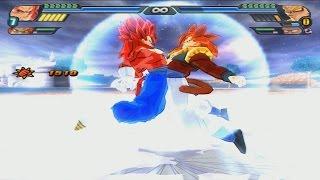getlinkyoutube.com-Vegetto SSJ4 And Gogeta SSJ4 Fusion (Potara) | Gogetto Super Saiyan 4 | DBZ Tenkaichi 3 (MOD)