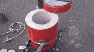 getlinkyoutube.com-Homemade Propane Foundry Furnace Metal Aluminium Tutorial How To Make Build Part 1 of 4 Aluminum